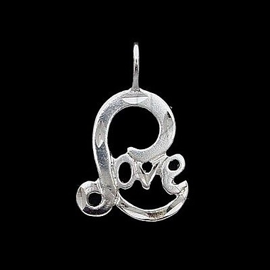 House of Jewellery Sterling Silver Diamond Cut Talking Charm, Love