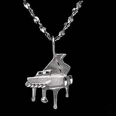 House of Jewellery – Breloque en argent sterling de taille diamant, piano (JB262)