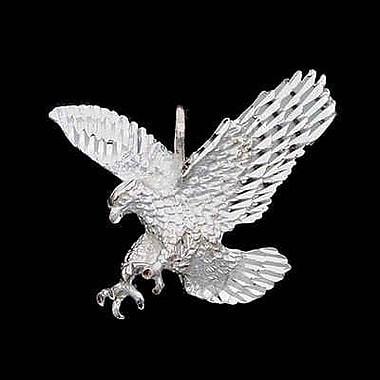 House of Jewellery Sterling Silver Diamond Cut Animal Charm, Eagle (JB263)