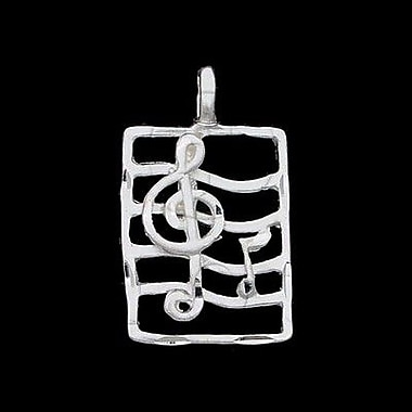 House of Jewellery Sterling Silver Diamond Cut Musical Charm, Note (JB304)