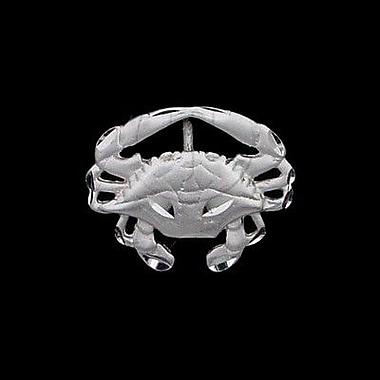 House of Jewellery Sterling Silver Diamond Cut Nautical Animal Charm, Crab (JB317)