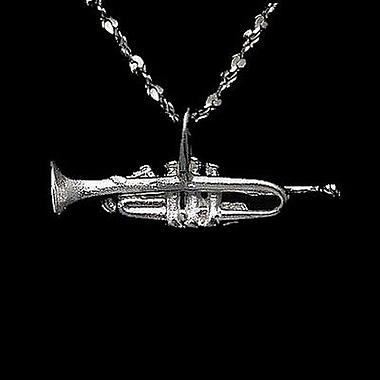 House of Jewellery – Breloque de musique en argent sterling à taille de diamant, trompette