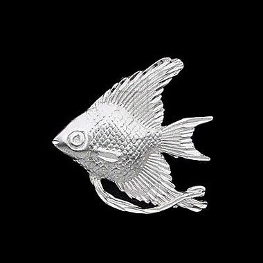 House of Jewellery – Breloque d'animal aquatique en argent sterling à taille de diamant, poisson rouge