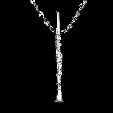 House of Jewellery Sterling Silver Diamond Cut Musical Charm, Clarinet