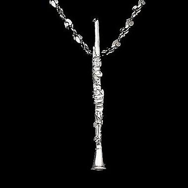 House of Jewellery – Breloque sur le thème de la musique en argent sterling à taille de diamant