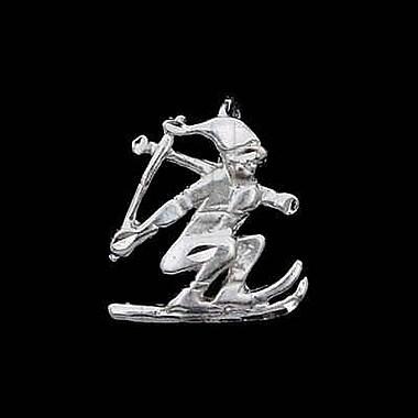 House of Jewellery – Breloque sportive en argent sterling à taille de diamant, ski
