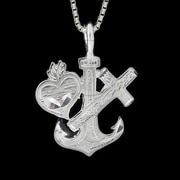 House of Jewellery Sterling Silver Diamond Cut Religious Charm