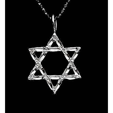 House of Jewellery Sterling Silver Diamond Cut Religious Charm, Star of David
