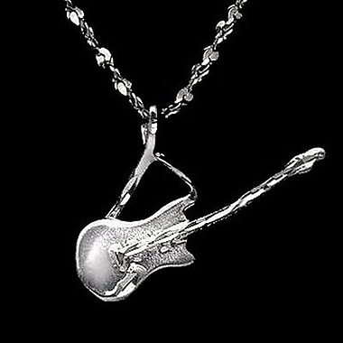 House of Jewellery Sterling Silver Diamond Cut Musical Charm, Guitar