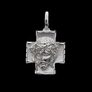 House of Jewellery Sterling Silver Diamond Cut Religious Charm, Jesus (JB479)
