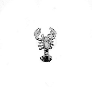 House of Jewellery Sterling Silver Diamond Cut Nautical Animal Charm, Lobster