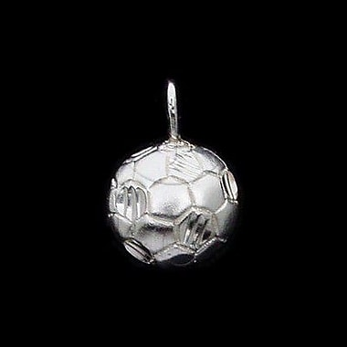 House of Jewellery Sterling Silver Diamond Cut Sports Charm, Soccer (C1144)