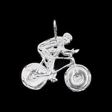 House of Jewellery Sterling Silver Diamond Cut Sports Charm, Bike