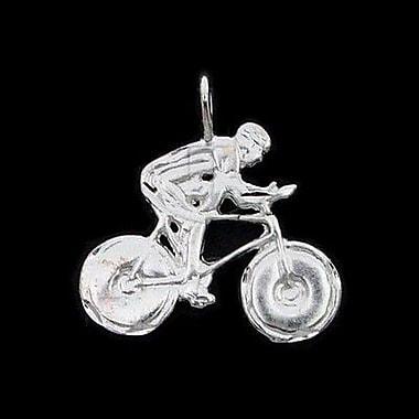 House of Jewellery – Breloque sportive en argent sterling à taille de diamant, vélo