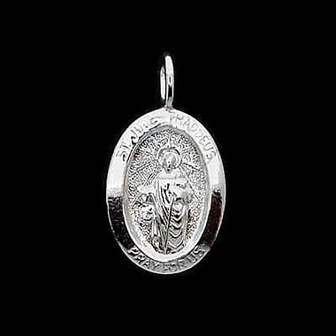 House of Jewellery Sterling Silver Diamond Cut Religious Charm, St Jude (C3006P)