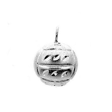 House of Jewellery Sterling Silver Diamond Cut Sports Charm, Volleyball