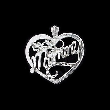 House of Jewellery Sterling Silver Diamond Cut Heart Talking Charm, Mommy
