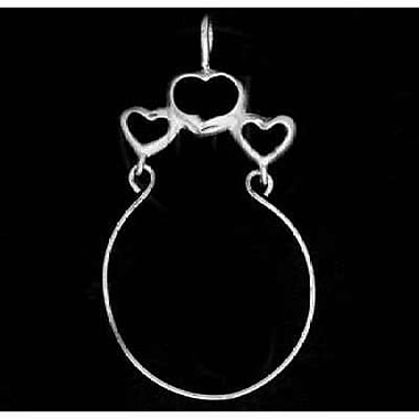 House of Jewellery Sterling Silver Diamond Cut Heart Charm, Holder