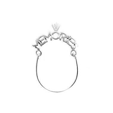 House of Jewellery – Breloque en argent sterling à taille de diamant avec écriture, Memories