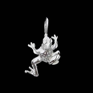 House of Jewellery Sterling Silver Diamond Cut Animal Charm, Frog (JB163)