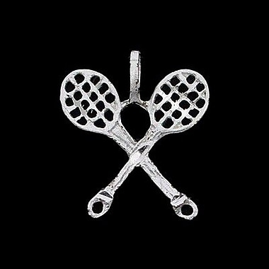 House of Jewellery Sterling Silver Diamond Cut Sports Charm, Tennis