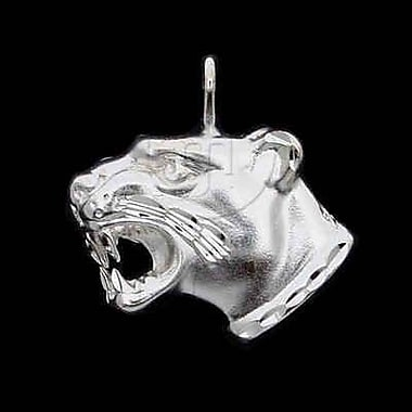 House of Jewellery Sterling Silver Diamond Cut Animal Charm, Jaguar