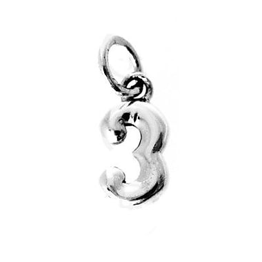 House of Jewellery Sterling Silver Number 3 Charm