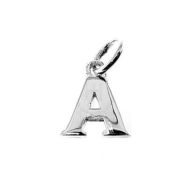 House of Jewellery – Breloque d'alphabet en argent sterling, lettre A