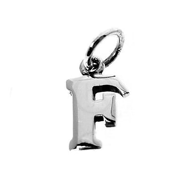 House of Jewellery Sterling Silver Letter F Alphabet Charm