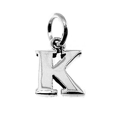 House of Jewellery Sterling Silver Letter K Alphabet Charm