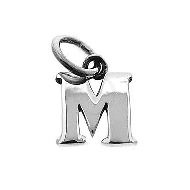 House of Jewellery Sterling Silver Letter M Alphabet Charm