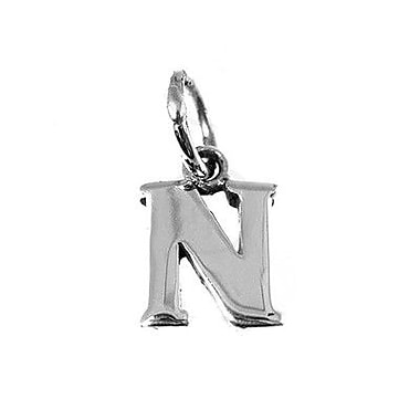 House of Jewellery – Breloque d'alphabet en argent sterling, lettre N
