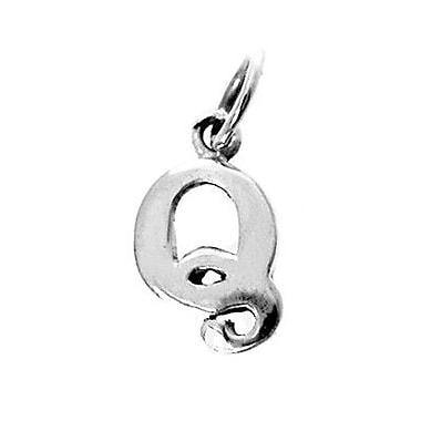 House of Jewellery – Breloque d'alphabet en argent sterling, lettre Q