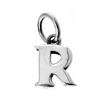 House of Jewellery – Breloque d'alphabet en argent sterling, lettre R
