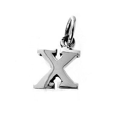 House of Jewellery – Breloque d'alphabet en argent sterling, lettre X