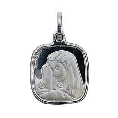 House of Jewellery Sterling Silver Diamond Cut Religious Charm, Virgin Mary (P-1028-SQ)