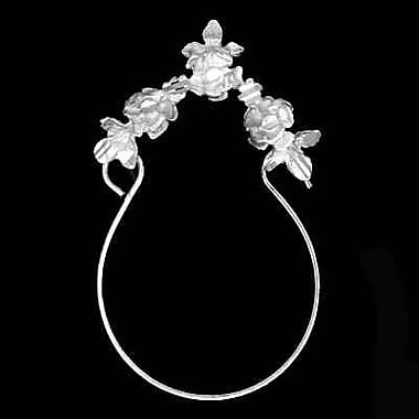 House of Jewellery Sterling Silver Diamond Cut Flower Charm, Holder (S1809CH)