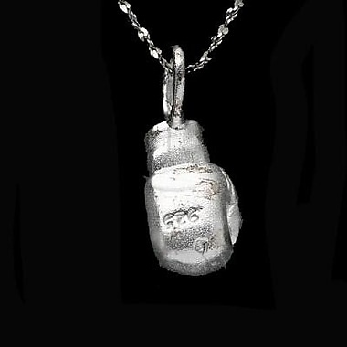 House of Jewellery Sterling Silver Diamond Cut Sports Charm, Boxing Glove