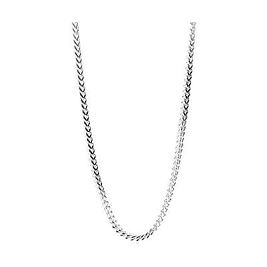 House of Jewellery 2.5mm Sterling Silver Franco Chain, 24