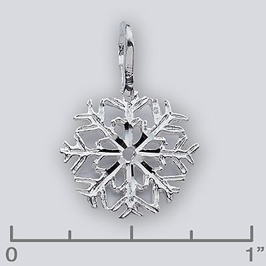 House of Jewellery – Breloque en argent sterling taillée au diamant, flocon de neige (JB266)
