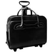 McKlein® Willowbrook W Series 2-in-1 Removable Wheeled Ladies' Briefcase, Black