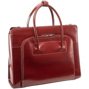 McKlein W Series, LAKE FOREST, Genuine Cowhide Leather, Ladies' Laptop Briefcase, Red (94336)