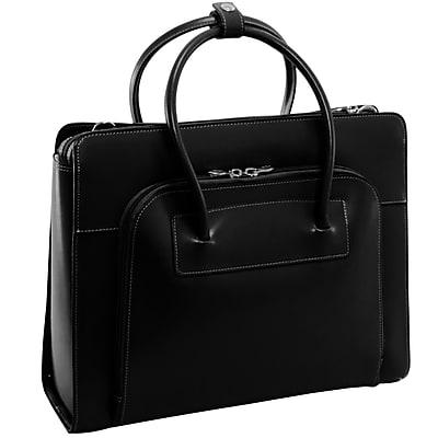 McKlein Lake Forest Ladies' Laptop Briefcase, Top Grain Cowhide Leather, Black (94335)