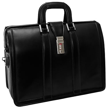 McKlein – Mallette d'avocat MORGAN en cuir pour ordinateur portatif de 17 po, noir