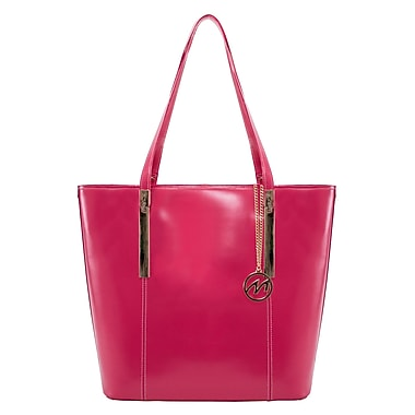 McKlein CRISTINA Leather Ladies' Tote with Tablet Pocket, Fuchsia