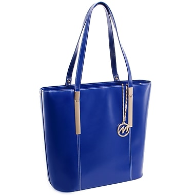 McKlein CRISTINA Leather Ladies' Tote with Tablet Pocket, Navy