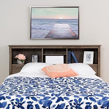 Prepac – Tête de grand lit Salt Spring, gris délavé