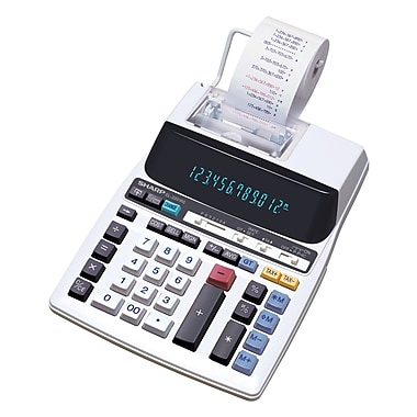Sharp - Calculatrice imprimante 12 chiffres, (EL2201RII)