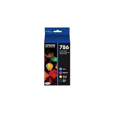Epson 786 DURABrite Black & Color Ink Cartridges Combo (T786120-BCS), 4/Pack