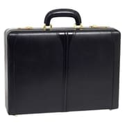 "McKlein TURNER Leather 4.5"" Expandable Attache Briefcase, Black"